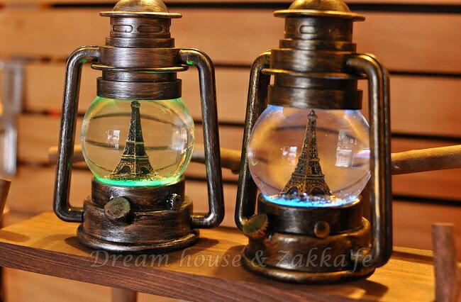 復古仿油燈造型 LED水球擺飾 大《 2色任選 》★ 燈光會變色 質感很好喔 ★  Zakka'fe 1