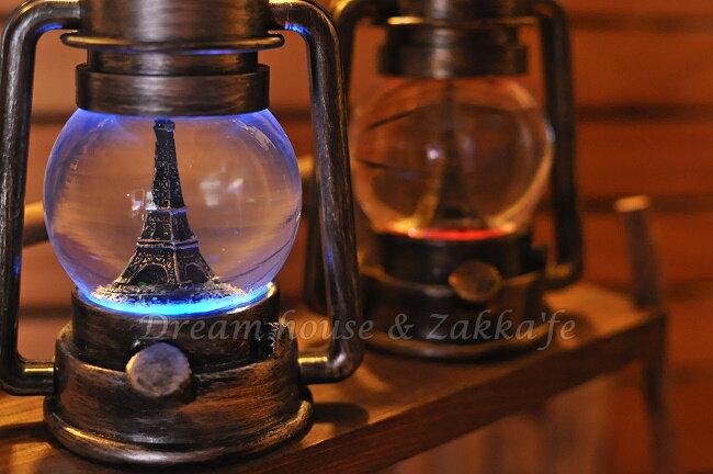 復古仿油燈造型 LED水球擺飾 大《 2色任選 》★ 燈光會變色 質感很好喔 ★  Zakka'fe 0
