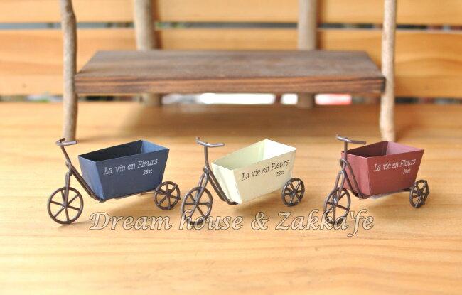 鄉村風 Zakka 仿舊復古 迷你鐵皮三輪車~ 3色 ~~ 可當拍照道具喔 ~Zakka