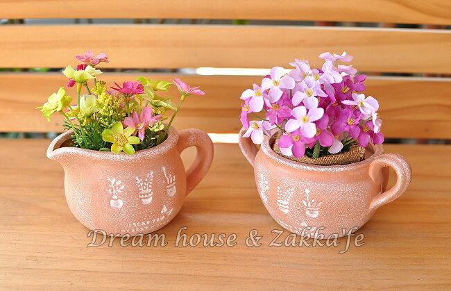Zakka 鄉村風 仿舊紅陶花器 2款 ~ 底部有瀝水孔 ~~ 多肉植物  種子盆栽~ Z