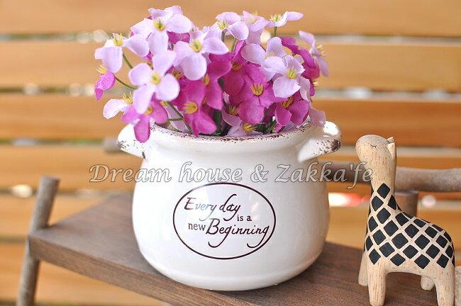 Zakka 鄉村風 仿舊陶瓷花器 3款任選《 底部有瀝水孔 》★適合多肉植物/種子盆栽★ Zakka'fe