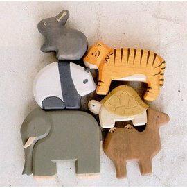 日本 T-Lab 手工原木製 方舟動物系列 《 2款任選 》★ Zakka鄉村風 ★ - 限時優惠好康折扣