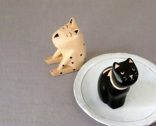 日本 T-Lab 手工原木製 貓與狗 《 2款任選 》★ Zakka鄉村風 ★ - 限時優惠好康折扣