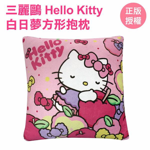 HELLO KITTY 蘋果蝴蝶結白日夢系列方枕 Sanrio 三麗鷗[蕾寶]