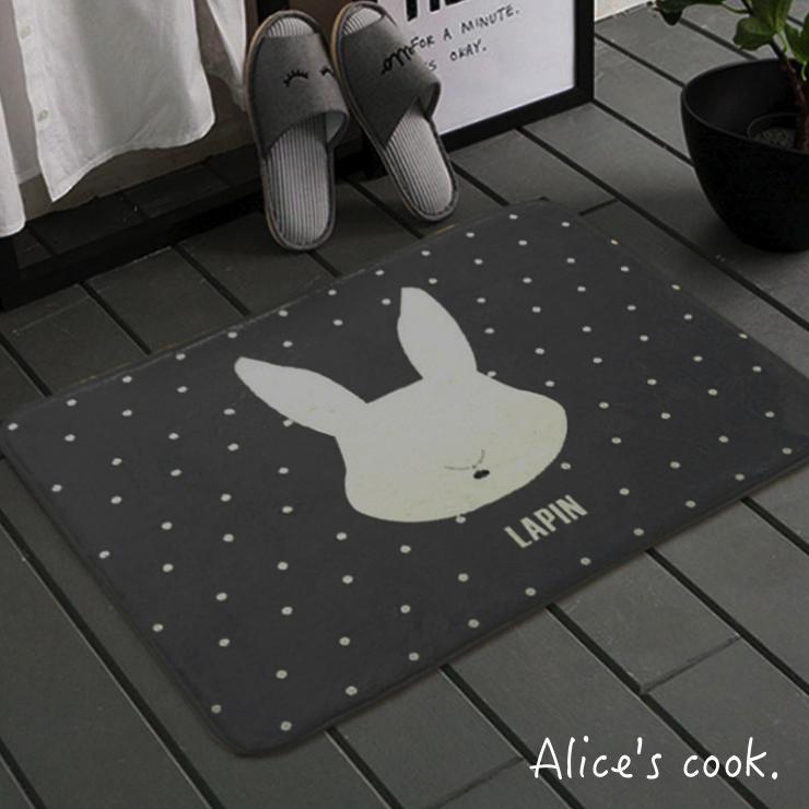 經典北歐 質感加厚地毯/地墊 兔子 小狗 北極熊 北歐城市 質感居家 人氣推薦