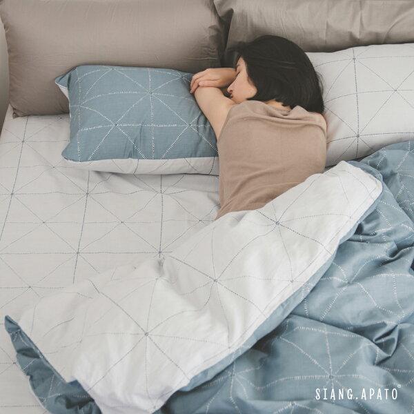 床包組-單人【克卜勒】ikea風格100%精梳棉純棉翔仔居家