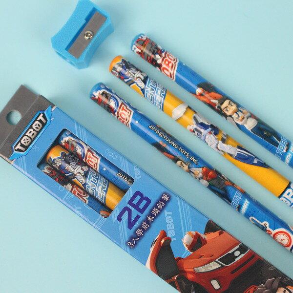 機器戰士學齡前鉛筆 學前兒童專用大三角鉛筆 2B/一小盒3支入{促60}~正版授權