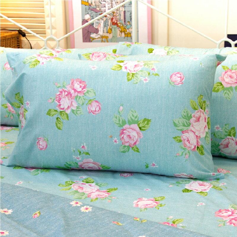 加大雙人床包涼被4件組-夢遊花綠 【精梳純棉、吸濕排汗、觸感升級】台灣製造 # 寢國寢城 5