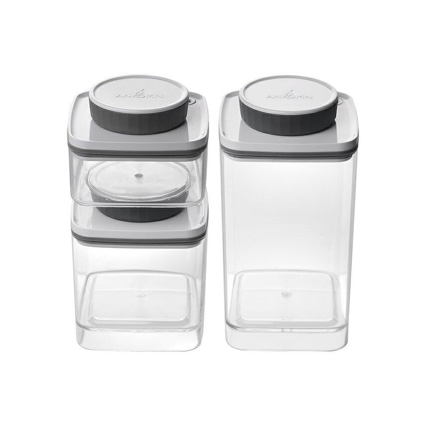 ANKOMN Turn-N-Seal 真空保鮮盒 1.2L+0.6L+0.3L 三件組