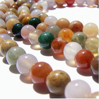 [血石]天然寶石 6mm圓形珠 diy飾品散珠 0