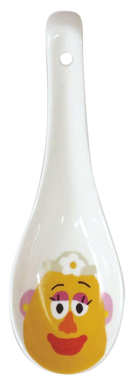 【真愛日本】15070900005 角色陶瓷湯匙-蛋頭太太 迪士尼 玩具總動員 TOY 湯匙 瓷器