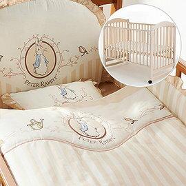【淘氣寶寶】奇哥 Joie 典雅白色大床+優雅比得兔六件床組【百貨專櫃正品/奇哥公司貨】