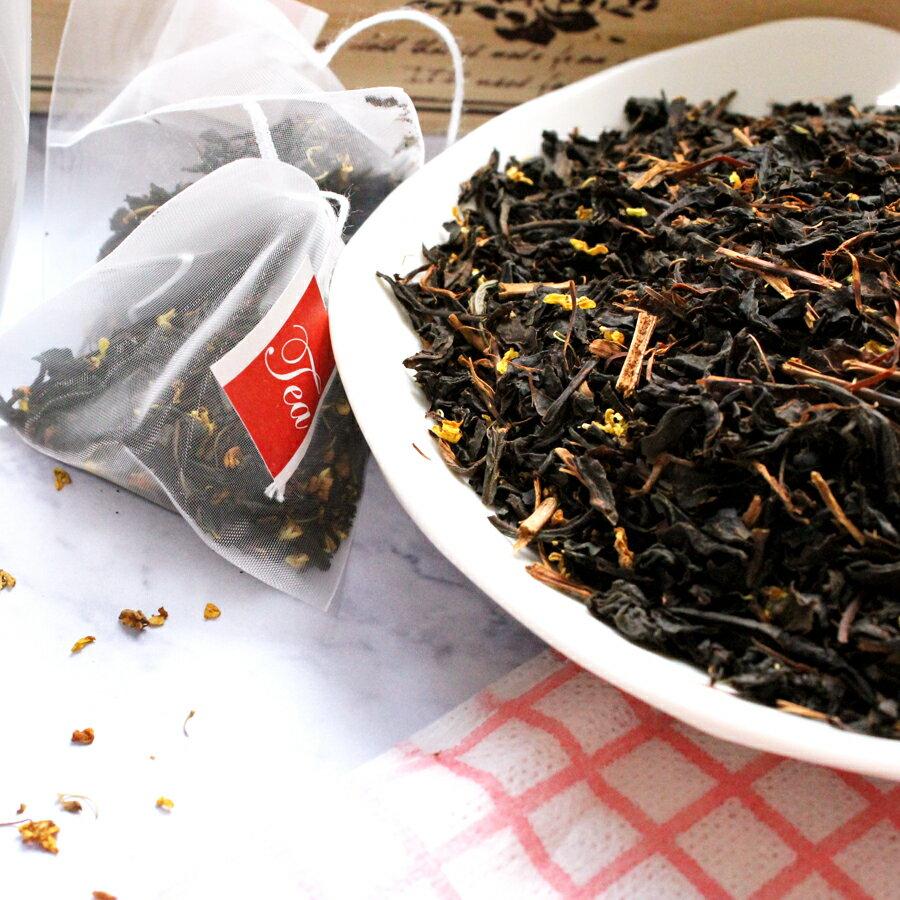 桂花紅茶 茶包 袋茶 另有茶葉 當桂花遇上紅茶,氣味芬香,口感濃郁,可做美味下午茶~冬季飲品熱賣 HOT【正心堂花草茶】