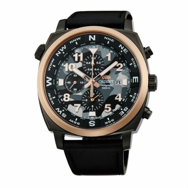 ORIENT 東方錶 HEAVY SPORT系列 (FTT17003B)東方霸王專業方位判定石英錶 迷彩色 皮帶款 45.5mm - 限時優惠好康折扣