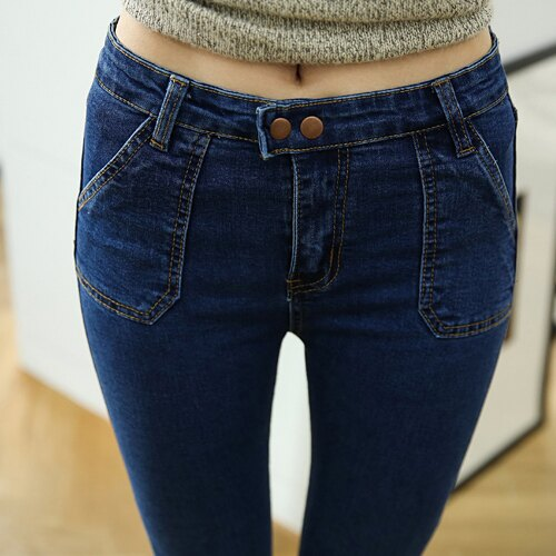 促銷專區免運 - 牛仔褲 - 斜口袋兩釦牛仔褲【23279】藍色巴黎《S~L》現貨+預購 2