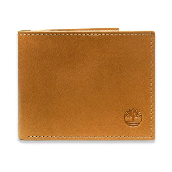 美國百分百【全新真品】Timberland 皮夾 短夾 錢包 皮包 真皮 經典 證件 鈔票夾 男用 駝色 B379