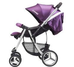 【買就送手推車蚊帳】Combi Mega Ride DX 嬰兒雙向手推車-幻影紫(此款無防寒腳套)