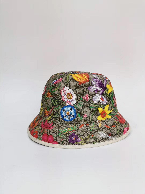【Go時尚】GUCCI GG Flora Fedora 花朵 漁夫帽 古馳 帽子 白色 603988 0