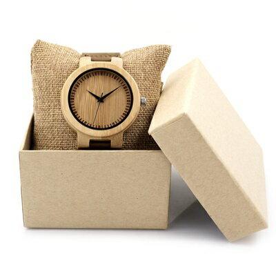 ★木製石英錶男女手錶-真皮錶帶簡約設計情侶款腕錶3款73pp334【獨家進口】【米蘭精品】 1