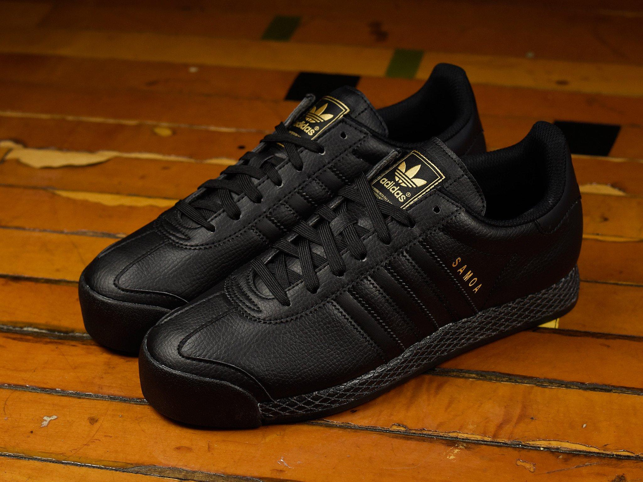 ADIDAS SAMOA ORIGINAL 經典款 黑金配色 男鞋 US 7.5~10 F37598 E倉