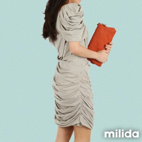【Milida,全店七折免運】-夏季洋裝-造型款-甜美公主袖設計 6