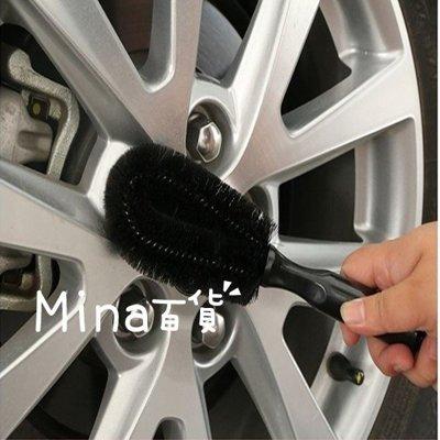 (mina百貨) 專業【輪胎鋼圈刷】 圓頭鋼圈刷 汽車用清潔刷 洗車刷 毛刷 汽車用品 洗車工具 G0036