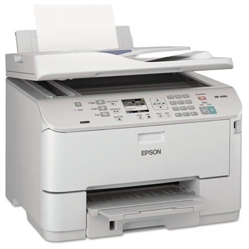 "Epson WorkForce Pro WP-4590 Inkjet Multifunction Printer - Color - Plain Paper Print - Desktop - Copier/Fax/Printer/Scanner - 16 ppm Mono/11 ppm Color Print (ISO) - 4800 x 1200 dpi Print - Automatic Duplex Print - 2.5"" LCD - 2400 dpi Optical Scan - 330 sh 1"