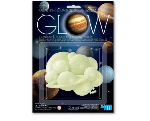 【4M 創意 DIY】Glow 3D Solar System 3D立體太陽系貼片