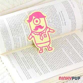 [全家福貼紙] DIY反光貼紙 單眼家族 粉紅色 爸爸 10.7*7.3cm