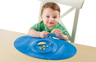 】美國 Summer Infant 防水學習餐墊 Tiny Diner 2 第二代新款 藍色【100%防水材質、易清洗、收納方便】【紫貝殼