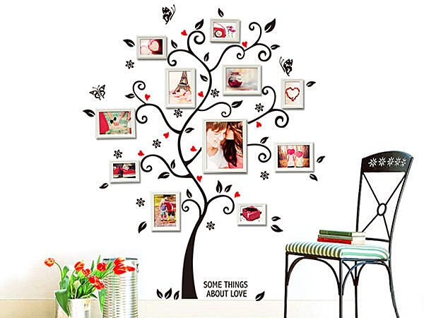 BO雜貨【YV3818】時尚組合壁貼 牆貼 壁紙壁貼紙 創意璧貼 幸福樹