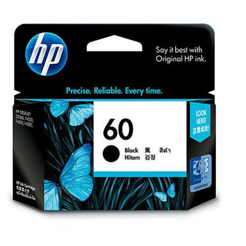 HP NO.60 原廠黑色墨水匣 CC640WA 適用D2560/F4280/F4480/D1660/D5560