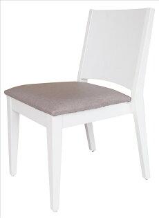 【石川家居】YE-A475-15文森白色餐椅(灰亞麻紋皮)(單張)(不含餐桌與其他商品)台北到高雄搭配車趟免運
