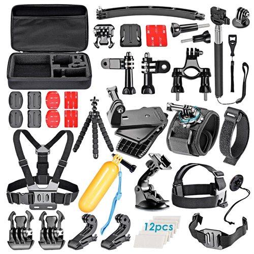 Neewer 50-In-1 Sport Accessory Kit for GoPro Hero4 Session Hero1 2 3 3+ 4 SJ4000 5000 Xiaomi Yi 6524487b2f27ae35ab565fa70ca53985