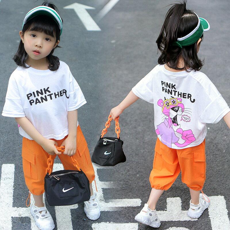 童裝2021夏款兩件套女童女寶寶衣服兒童服裝嬰幼兒短袖套裝潮0-4