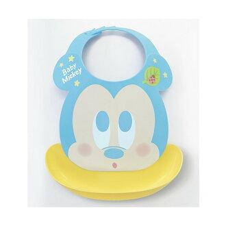 【真愛日本】17081500007 日本製幼兒大臉防撒圍兜-米奇黃 卡通圖案 迪士尼 米妮 圍兜兜 幼兒 兒童用品