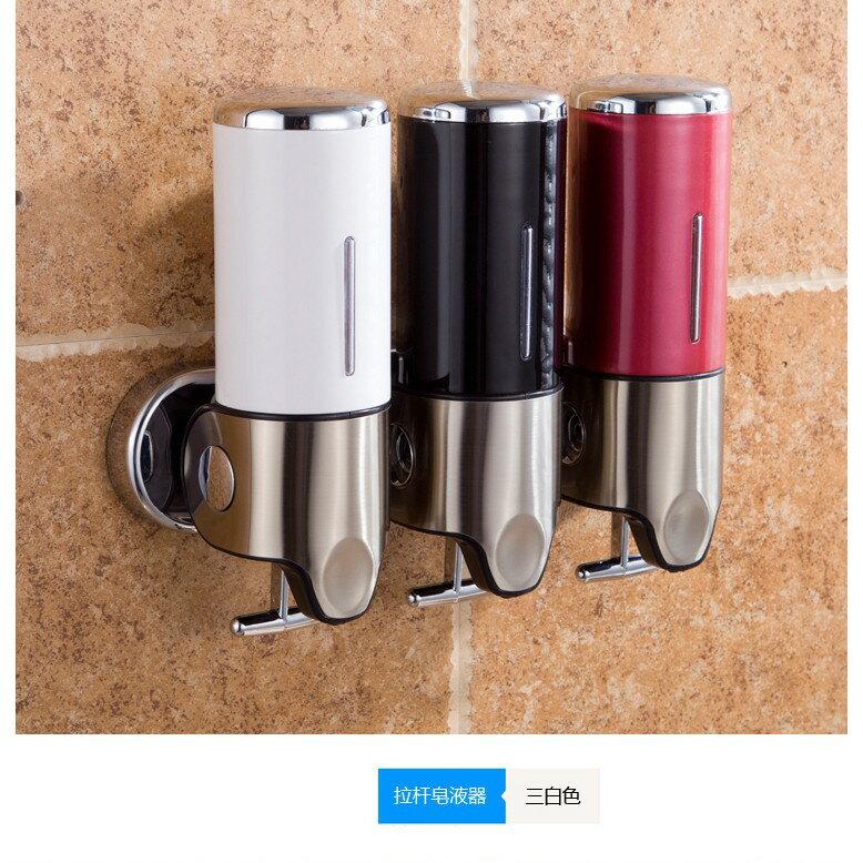 給皂機 酒店浴室不銹鋼壁掛式掛壁手動沐浴露瓶子盒子給皂液器洗手液器