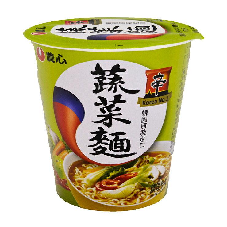 【農心】蔬菜杯麵(65g)-商品效期:2018/05/19