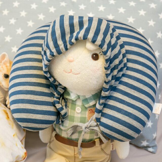 無印帽 頸枕 藍灰色 紓壓/休息 便利實用 6