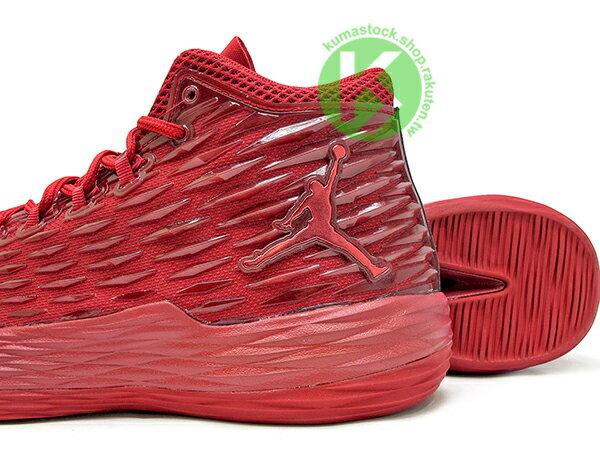 2017 NBA 明星前鋒 Carmelo Anthony 代言 NIKE JORDAN MELO M13 X 全紅 飛人 KURIM 科技鞋面 FLIGHTSPEED + ZOOM AIR 避震科技傳導 XDR 耐磨橡膠外底 NYC 紐約尼克隊 (902443-618) 0117 3