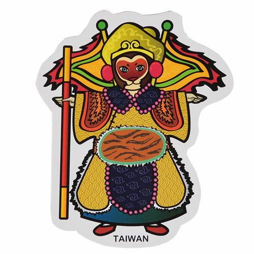 【MILU DESIGN】+PostCard>>台灣旅行明信片-布袋戲 孫悟空/明信片(台灣民俗/神話故事/TAIWAN/Glove puppetry/Folk)