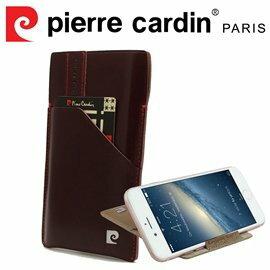 [ iPhone 6/6s ] Pierre Cardin 法國皮爾卡登4.7吋高級牛皮口袋可站立抽取式手機套/皮套 紅色