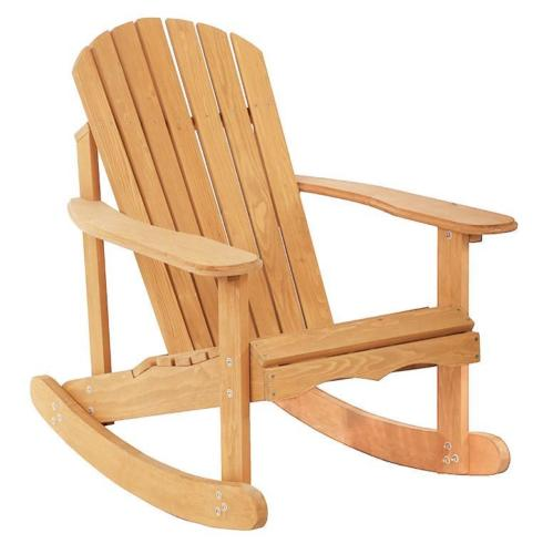 Patio Rocking Adirondack Wood Chair 0