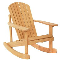 Patio Rocking Adirondack Wood Chair