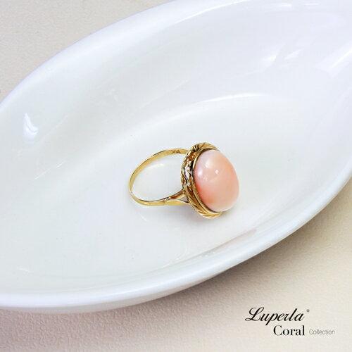 大東山珠寶 美麗奇蹟 頂級天然深水粉珊瑚14K金戒指 2