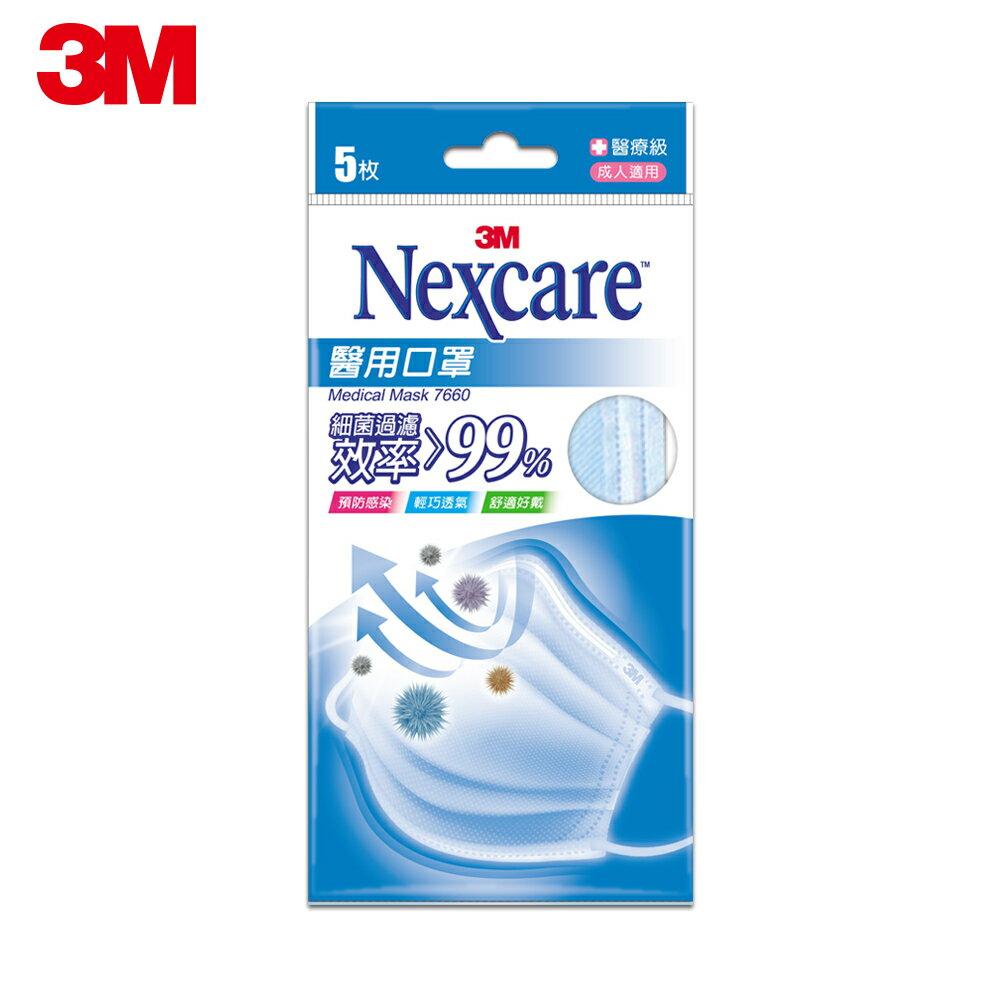 【7 / 14限時開賣】3M Nexcare成人醫用口罩-粉藍(盒裝50片 / 內有10小包)醫療口罩★每筆限購一包 2