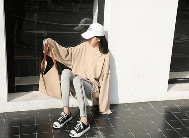 長褲 素色 側邊 彩色條紋 運動 小腳褲 貼身 內搭 長褲【MZEJ17024】 BOBI  09 / 05 2