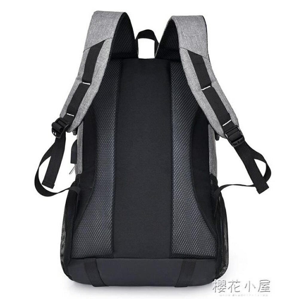 充電書包男大學生背包商務旅行雙肩包大容量時尚潮流女韓版學院風『櫻花小屋』 1