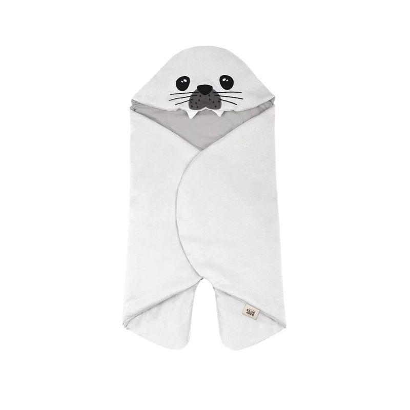 BabyBites 西班牙鯊魚咬一口純棉嬰幼兒多功能睡袋(輕量版)海豹北極白★愛兒麗婦幼用品★