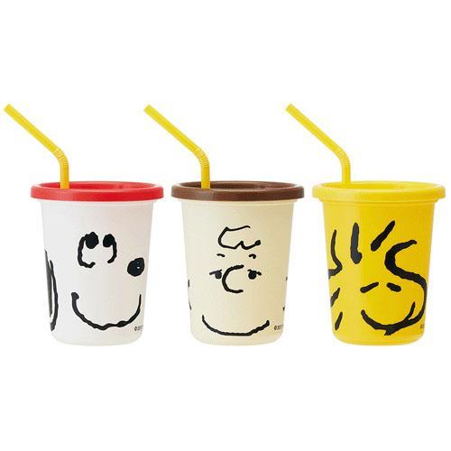 日本製SKATERSNOOPY史努比兒童吸管水杯組320ml3入吸管杯學習杯*夏日微風*